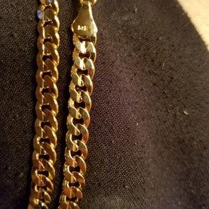 "24"" Cuban link neckace 14kt REAL GOLD"